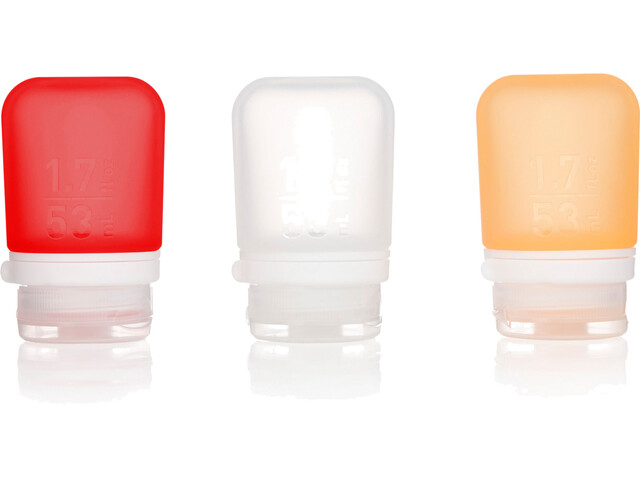 humangear GoToob+ 3-Pack Small 53ml Clear/Orange/Red